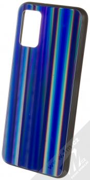 1Mcz Aurora Glass Cover ochranný kryt pro Samsung Galaxy A02s měnivě modrá (iridescent blue)