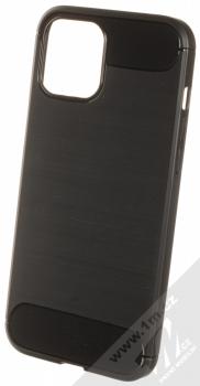 1Mcz Carbon TPU ochranný kryt pro Apple iPhone 12 Pro Max černá (black)