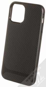 1Mcz Carbon Protect TPU ochranný kryt pro Apple iPhone 12, iPhone 12 Pro černá (black)