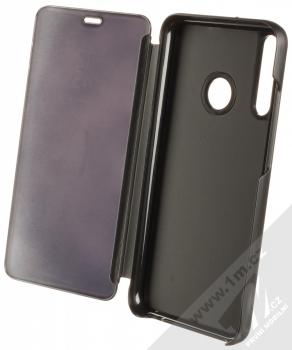 1Mcz Clear View flipové pouzdro pro Huawei P40 Lite E černá (black) otevřené