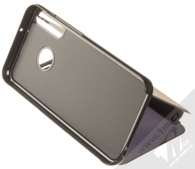 1Mcz Clear View flipové pouzdro pro Huawei P40 Lite E černá (black) stojánek