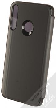 1Mcz Clear View flipové pouzdro pro Huawei P40 Lite E černá (black) zezadu
