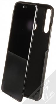 1Mcz Clear View flipové pouzdro pro Huawei P40 Lite E černá (black)