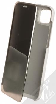 1Mcz Clear View flipové pouzdro pro Huawei Y5p, Honor 9S stříbrná (silver)