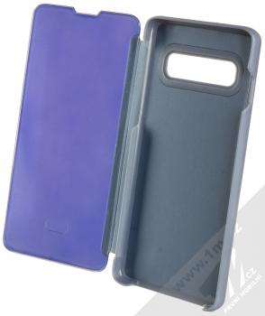 1Mcz Clear View flipové pouzdro pro Samsung Galaxy S10 modrá (blue) otevřené