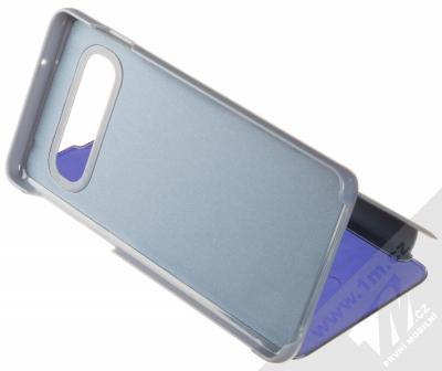 1Mcz Clear View flipové pouzdro pro Samsung Galaxy S10 modrá (blue) stojánek