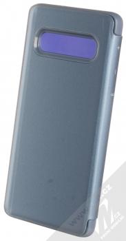 1Mcz Clear View flipové pouzdro pro Samsung Galaxy S10 modrá (blue) zezadu