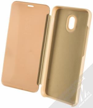 1Mcz Clear View flipové pouzdro pro Xiaomi Redmi 8A zlatá (gold) otevřené