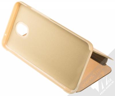 1Mcz Clear View flipové pouzdro pro Xiaomi Redmi 8A zlatá (gold) stojánek