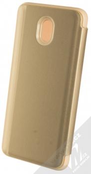 1Mcz Clear View flipové pouzdro pro Xiaomi Redmi 8A zlatá (gold) zezadu