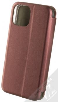 1Mcz Elegance Book flipové pouzdro pro Apple iPhone 13 mini tmavě červená (dark red) zezadu