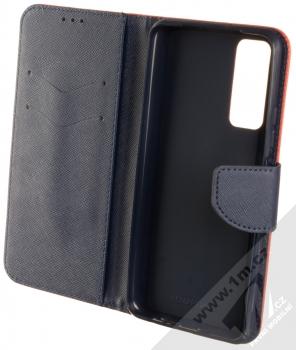 1Mcz Fancy Book flipové pouzdro pro Huawei P Smart (2021) červená modrá (red blue) otevřené