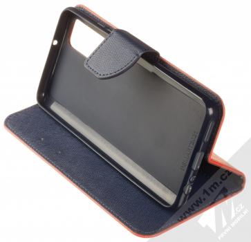 1Mcz Fancy Book flipové pouzdro pro Huawei P Smart (2021) červená modrá (red blue) stojánek