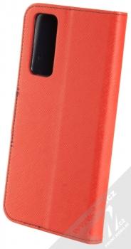 1Mcz Fancy Book flipové pouzdro pro Huawei P Smart (2021) červená modrá (red blue) zezadu