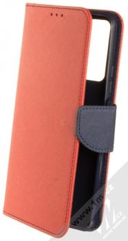 1Mcz Fancy Book flipové pouzdro pro Huawei P Smart (2021) červená modrá (red blue)