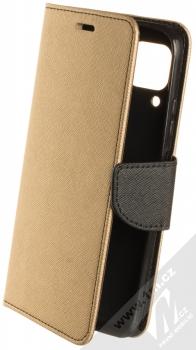 1Mcz Fancy Book flipové pouzdro pro Huawei P40 Lite zlatá černá (gold black)