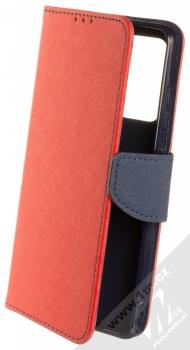 1Mcz Fancy Book flipové pouzdro pro Samsung Galaxy A52, Galaxy A52 5G, Galaxy A52s 5G červená modrá (red blue)