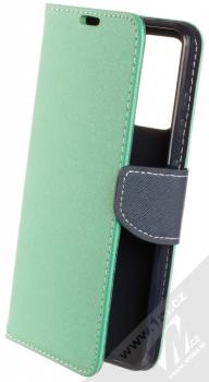 1Mcz Fancy Book flipové pouzdro pro Samsung Galaxy A52, Galaxy A52 5G, Galaxy A52s 5G mátově zelená modrá (mint blue)