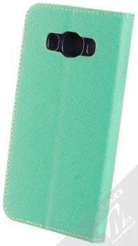 1Mcz Fancy Book flipové pouzdro pro Samsung Galaxy J5 (2016) mátově zelená modrá (mint blue) zezadu