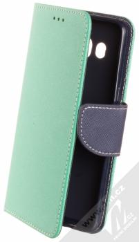 1Mcz Fancy Book flipové pouzdro pro Samsung Galaxy J5 (2016) mátově zelená modrá (mint blue)