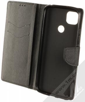 1Mcz Fancy Book flipové pouzdro pro Xiaomi Redmi 9C černá (black) otevřené