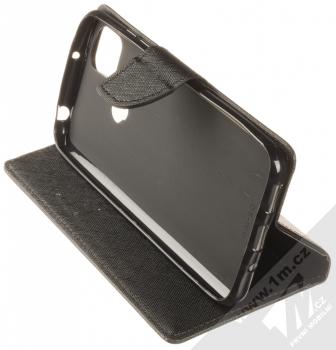 1Mcz Fancy Book flipové pouzdro pro Xiaomi Redmi 9C černá (black) stojánek