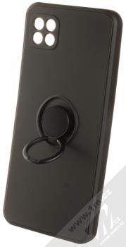 1Mcz Grip Ring Skinny ochranný kryt s držákem na prst pro Samsung Galaxy A22 5G černá (black) držák
