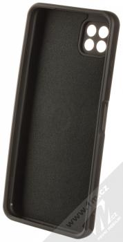 1Mcz Grip Ring Skinny ochranný kryt s držákem na prst pro Samsung Galaxy A22 5G černá (black) zepředu