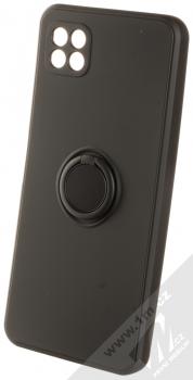 1Mcz Grip Ring Skinny ochranný kryt s držákem na prst pro Samsung Galaxy A22 5G černá (black)