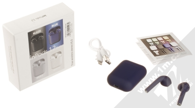 1Mcz i12 inPods Simple TWS Bluetooth stereo sluchátka modrá (blue) balení