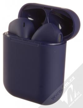 1Mcz i12 inPods Simple TWS Bluetooth stereo sluchátka modrá (blue) nabíjecí pouzdro se sluchátky