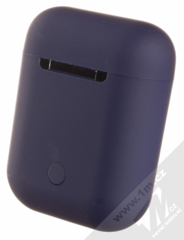 1Mcz i12 inPods Simple TWS Bluetooth stereo sluchátka modrá (blue) nabíjecí pouzdro zezadu