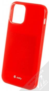 1Mcz Jelly TPU ochranný kryt pro Apple iPhone 12, iPhone 12 Pro červená (red)