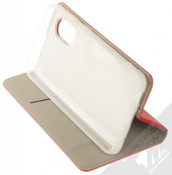 1Mcz Magnet Book flipové pouzdro pro Samsung Galaxy Xcover 5 červená (red) stojánek