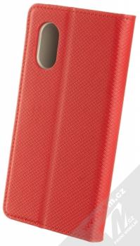 1Mcz Magnet Book flipové pouzdro pro Samsung Galaxy Xcover 5 červená (red) zezadu