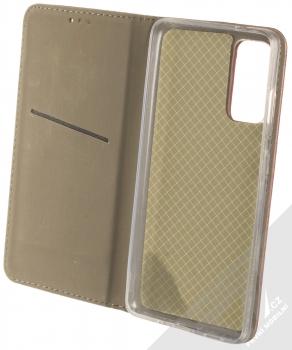 1Mcz Magnetic Book flipové pouzdro pro Samsung Galaxy S20 FE tmavě červená (dark red) otevřené