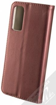 1Mcz Magnetic Book flipové pouzdro pro Samsung Galaxy S20 FE tmavě červená (dark red) zezadu