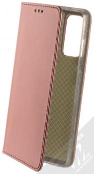 1Mcz Magnetic Book flipové pouzdro pro Samsung Galaxy S20 FE, Galaxy S20 FE 5G tmavě červená (dark red)