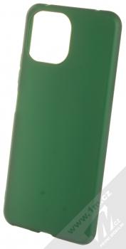 1Mcz Matt TPU ochranný silikonový kryt pro Xiaomi Mi 11 Lite, Mi 11 Lite 5G tmavě zelená (forest green)