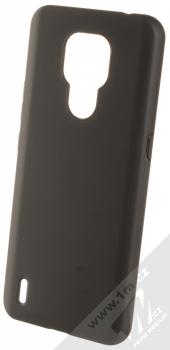 1Mcz Matt TPU ochranný silikonový kryt pro Motorola Moto E7 černá (black)
