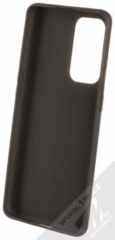 1Mcz Matt TPU ochranný silikonový kryt pro OnePlus 9 Pro černá (black) zepředu