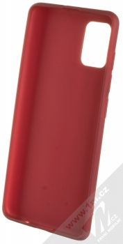 1Mcz Matt TPU ochranný silikonový kryt pro Samsung Galaxy A51 tmavě červená (dark red) zepředu