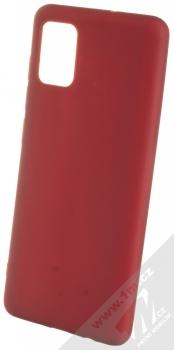 1Mcz Matt TPU ochranný silikonový kryt pro Samsung Galaxy A51 tmavě červená (dark red)