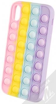 1Mcz Pop It antistresový ochranný kryt pro Apple iPhone XR duhová (rainbow)