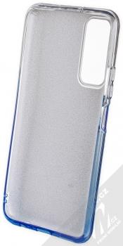 1Mcz Shining Duo TPU třpytivý ochranný kryt pro Huawei P Smart (2021) stříbrná modrá (silver blue) zepředu