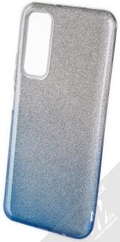 1Mcz Shining Duo TPU třpytivý ochranný kryt pro Huawei P Smart (2021) stříbrná modrá (silver blue)