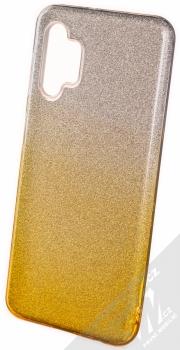 1Mcz Shining Duo TPU třpytivý ochranný kryt pro Samsung Galaxy A32 5G stříbrná zlatá (silver gold)