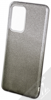 1Mcz Shining Duo TPU třpytivý ochranný kryt pro Samsung Galaxy A52, Galaxy A52 5G, Galaxy A52s 5G stříbrná černá (silver black)