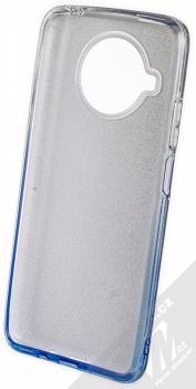 1Mcz Shining Duo TPU třpytivý ochranný kryt pro Xiaomi Mi 10T Lite 5G stříbrná modrá (silver blue) zepředu
