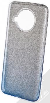 1Mcz Shining Duo TPU třpytivý ochranný kryt pro Xiaomi Mi 10T Lite 5G stříbrná modrá (silver blue)